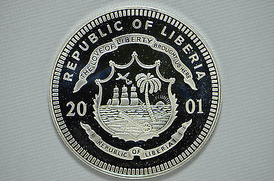 2001 Republic of Liberia $20 History of Am.Ratification of Constitution ( bb771)