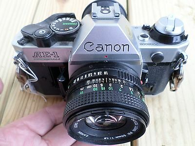 2nd Lot, Canon AE-1 Program 35mm Camera with 50mm f1.8 Lens w/lens cap