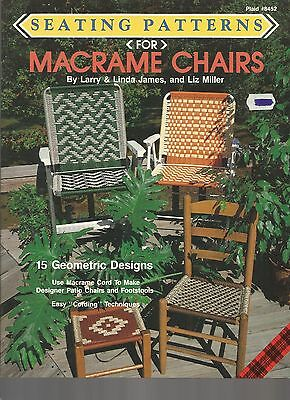 Seating Patterns for Macrame Chairs Liz Miller Pattern Book Patio Lawn NEW 1990
