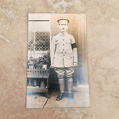 WW1 Regiment Officer Soldier Military Army Black Arm Band Unposted Postcard