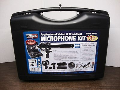"Vidpro XM-55 13-piece 11"" Condenser Shotgun Video & Broadcast Microphone Kit"