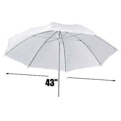 43Inch Photo Studio Soft White Umbrella Translucent Softbox Lighting Diffuser