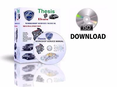 Lancia Thesis Multilingual Factory Workshop Repair Manual CD