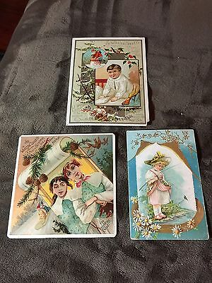 Woolson Spice Lion Coffee Trade Card Lot Of (3)