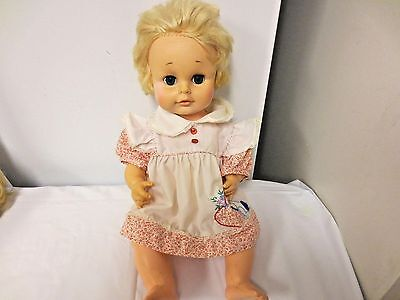 """1974 Eegee 16"""" Drink & Wet Hard Plastic Baby Doll - AS SHOWN"""