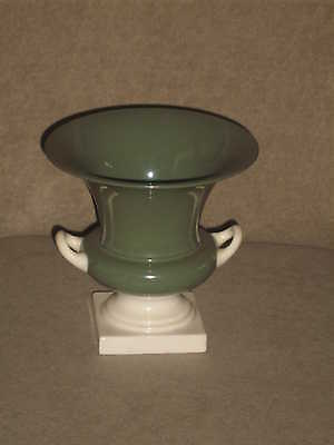 Vintage Lenox Lenox Green Vase With Ivory Handles And Base Old