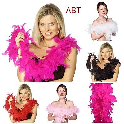 Thick 80g Feather Boa 2metre Long Perfect 4 FancyDress Hen Night Party Burlesque