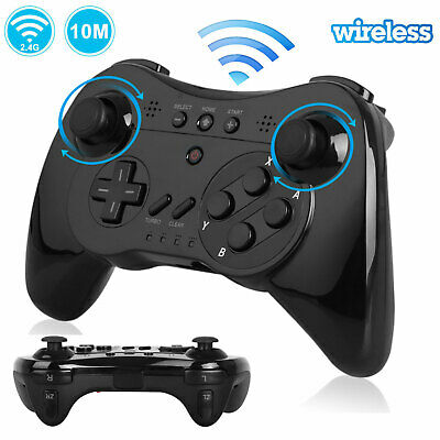 2X 1X Wireless Pro Controller Gamepad Joypad Joystick Remote for Nintendo Wii U