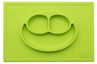 ezpz Happy Mat - One-piece silicone placemat + plate (Lime) Lime