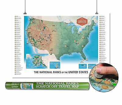 THE NATIONAL PARKS Scratch Off Travel Map USA by Mappinners - $45.94 ...
