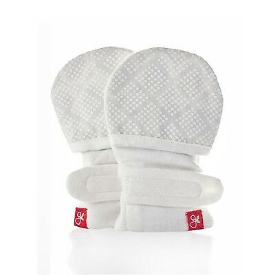 Stay on Newborn Baby Mittens - Organic Cotton/Bamboo Mitts S/M (diamond dots ...