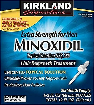 Minoxidil for Men 5% Minoxidil Hair Regrowth Treatment 12 Months Supply Unsce...