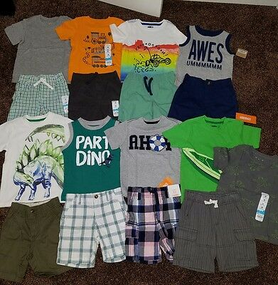 NWT Size 18-24 Months Boys Summer Clothes Lot Outfits dino