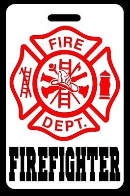 FIREFIGHTER Luggage/Gear Bag Tag - FREE Personalization - New