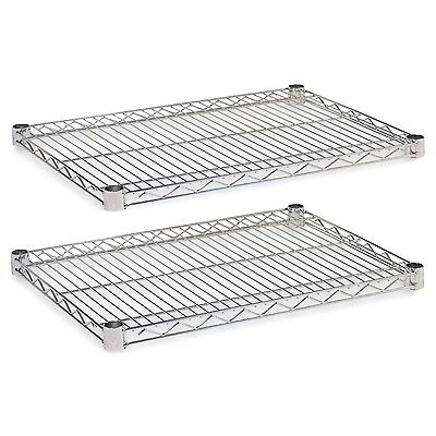 Alera Industrial Wire Shelving Extra Wire Shelves 24 by 18-Inch Silver
