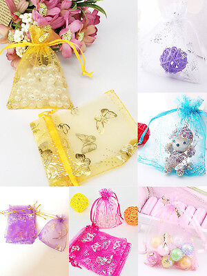 25/50/100Pcs Vintage Organza Candy Jewelry Gifts Bags Wedding Favor Pouch Bags