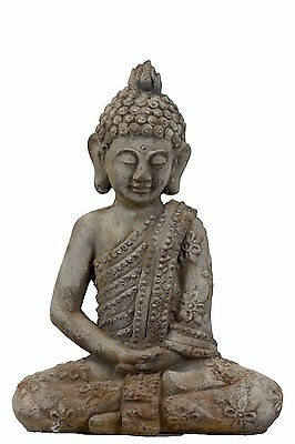 Urban Trends 50720-UT Decorative Cement Sitting Buddha Antique Finish