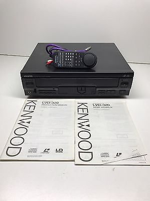 Kenwood CD CDC LD Player LVD-320 Laserdisc W/ Remote & Cords