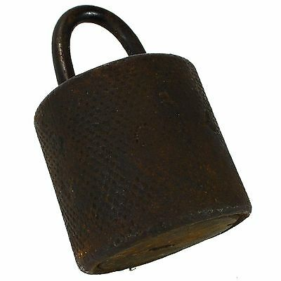 Iron Padlock Antique Large Vintage Cast-Iron Big YY (no key)
