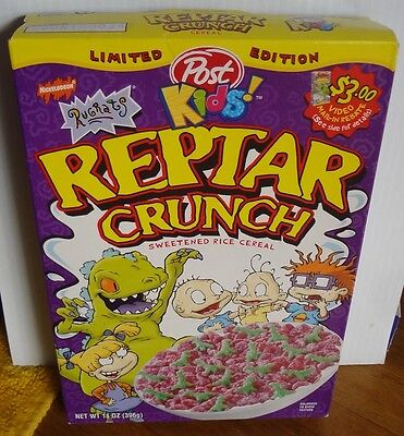 Still FULL Sealed Reptar Crunch Cereal Box Post 1999 Limited Edition Rugrats