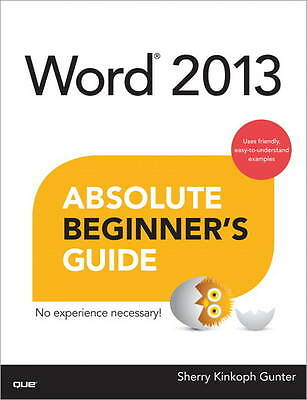 Word 2013 Absolute Beginner's Guide-ExLibrary