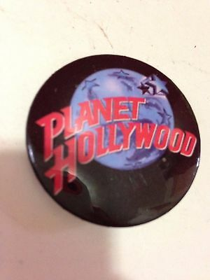 PLANET HOLLYWOOD RESTAURANT PIN BUTTON Black