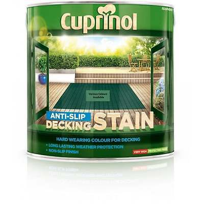 CUPRINOL Anti Slip Decking Stain 10 Colours 2.5L | Wood Colour Stain Protection