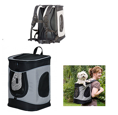 Trixie Timon Dog Rucksack, Dog Carrier Backpack,  Black/Grey, 34x44x30cm  28944