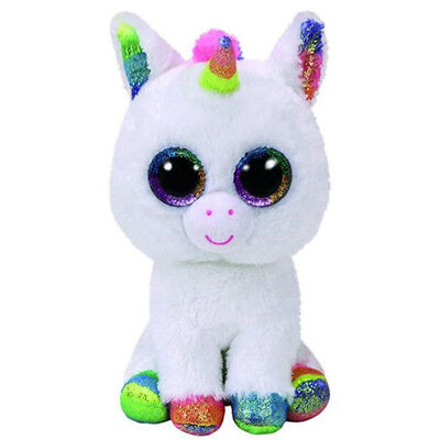 "New 6"" TY Beanie Boos Glitter Eyes Pixy-Unicorn Plush Stuffed Toy Kid Xmas Gifts"