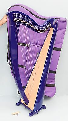 Mikel Saffron Lever Harp 34 Strings Blue with Delux Carry Bag VAT Free Delivery
