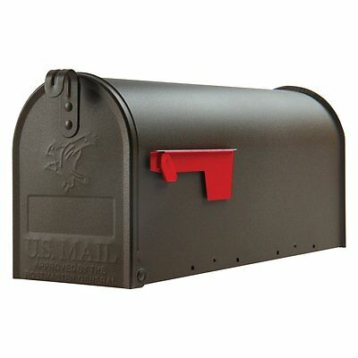 Medium Premium Steel Bronze Designed Mailbox Solar Group Post Mount Mail Box NEW