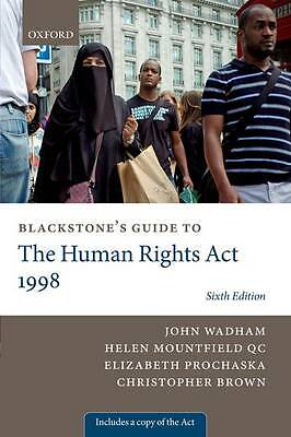 Blackstone's Guide to the Human Rights Act 1998 (Blackstones Guides)-ExLibrary