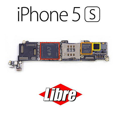 Placa Base Motherboard Apple iPhone 5s A1457 16 GB Boton Negro Libre