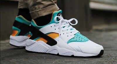 online store 261c8 59c11 BNIB DS Nike Air Huarache OG White Sport Turquoise University Gold UK8.5