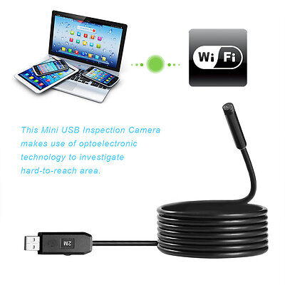 2M 6LED USB Waterproof Endoscope Borescope Snake Inspection Camera Scope 7MM BH