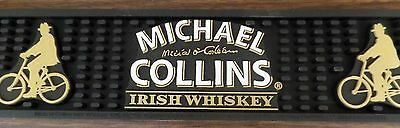 Michael Collins Irish Whiskey Bar Spill Mat Drip Tray Rare New Collectible