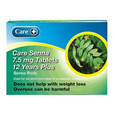 Senna Tablets (Care) for Natural Constipation Relief 100 Tablets