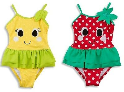 baby girls swimming costume-strawberry/lemon