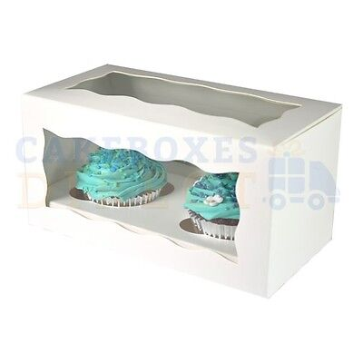 Double Cupcake Box + Divider Cheapest On Ebay Choose Your Qty & Colour