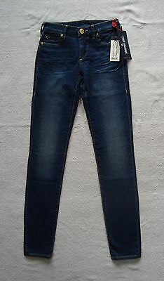 True Religion NWT Halle Mid Rise Super Skinny Mid-Wash Blue Jean NWT Size 24