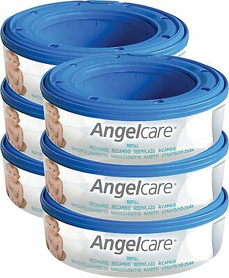 Angelcare Nappy Disposal System Refill Cassettes - Pack of 6