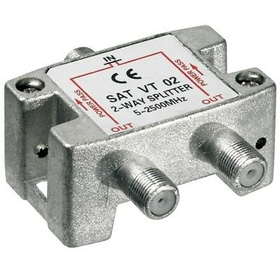 SAT Verteiler Splitter für Satelliten LNB Kabel 1 IN 2 OUT 100dB digital DVB-S