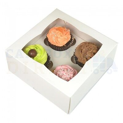 4 Premium Cupcake Box + Divider Cheapest On Ebay Choose Your Colour & Quantity