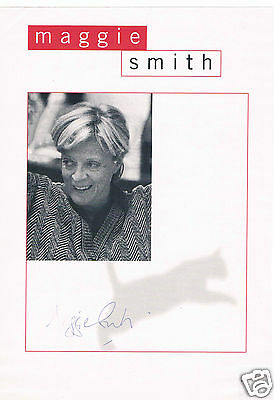 Maggie Smith British actress Hand signed  Magazine page 10 x 7 Laid to card