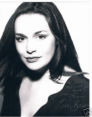 Lucy Brown Actress Primeval   The Village  Hand Signed Photograph 10 x 8
