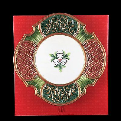 "NIB Fitz and Floyd Classics ""Christmas Court"" Pattern 19/1906 Canape Plate"