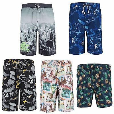 Teens Swimming Shorts Boys Summer Surf Board Beach Bottoms Sizes 10-16 Y