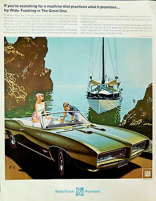 Vintage 1968 Pontiac GTO car Artists AF VK  advertisement print ad art