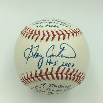NY Mets Gary Carter Signed First Pitch From Gary Carter Night Game Baseball PSA