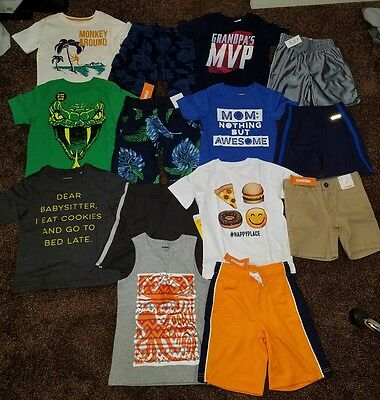 NWT Boys Size 4T 4 Lot of Clothes Outfits Summer food snake